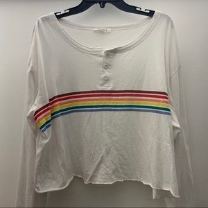 Cropped Button Long Sleeve